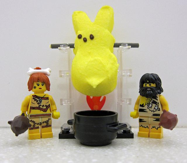 Peeps vs. LEGO : Hunter-Gatherer by wiredforlego, on Flickr