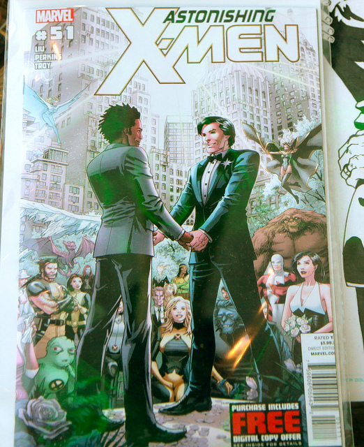 super hero gay wedding X-MEN : castro, san francisco (2012) by torbakhopper on Flickr.