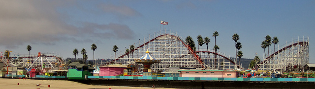 Looff Carousel and Roller Coaster on the Santa Cruz Beach Boardwalk by Teemu008, on Flickr