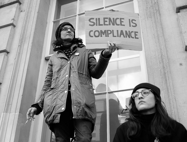 Silence is Compliance by Alisdare Hickson on Flickr